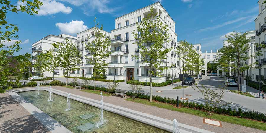 Frankonia Eurobau Immobilien Heinrich Heine Gärten Außenvisualisierung